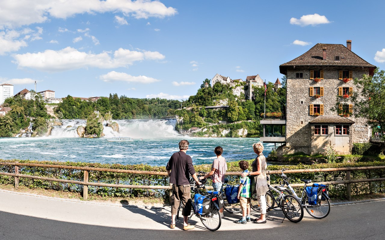 Rheinfall in Schaffhausen, Schweiz | © European Cyclists' Federation, Demarrage LTMA